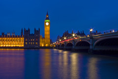 Westminster Bridge CS IMG_1421 RS (Swebbatron) Tags: london 2013 travel canon 1100d city longexposure westminster thames westminsterbridge riverthames cityscape bluehour bigben housesofparliament