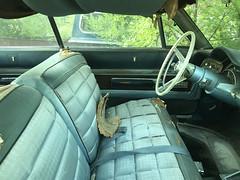 New Yorker 3 (plasticfootball) Tags: kilbourne illinois cars chrysler newyorker benchseat interior steeringwheel
