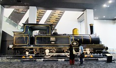 Nineteenth Century 2-4-2 steam locomotive at the Kyoto Railway Museum 8540 (Tangled Bank) Tags: japan japanese asia asian jr jnr old classic heritage vintage history historical train railway rail railroad museum nineteenth century 242 steam locomotive kyoto 8540