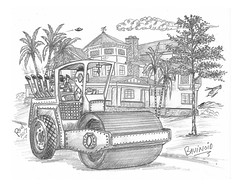 Bavinoid (rod1691) Tags: bw scifi grey concept custom car retro space hotrod drawing pencil h2 hb original story fantasy funny tale automotive art illistration greyscale moonpies sketch