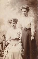 Sisters by Barkway of Bury St Edmunds (Bury Gardener) Tags: postcard postcards old oldies vintage realphotopostcard blackandwhite bw people burystedmunds suffolk eastanglia england uk