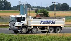 Humberside Excavations Bulk Haulage 25th July 2017 (asdofdsa) Tags: hgv haulage transport trucks travel motorway m62 goole langhamjunction rawcliffebridge bulkhaulage tipper