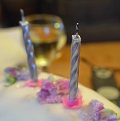 happy birthday to me (conall..) Tags: birthday cake happy cherrycake crystalised flowers sweetpea everlasting candles
