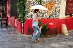 Tiger 111-2017 ( serie walkers ) (Kairos !) Tags: walker walkers walk walking city urban street streetview streetwalk streetphotography streetphotographer umbrella fujifilm fujixt20