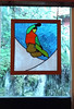 Stained glass snowboarder (Ruth and Dave) Tags: gondolavillage creekside whistler whistlerblackcomb apartment condo rentalunit window stainedglass snowboarder snowboarding trick jumping glass dwwg
