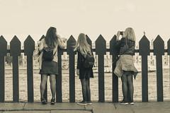 Three graces - Три грации (Valery Parshin) Tags: russia saintpetersburg canoneos600d canonefs55250mmf456isstm girls sepia blackandwhite stpetersburg neva