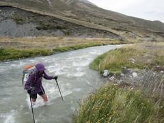 River Crossing (newzild) Tags: newzealand teararoa hiker tramper trail route long distance capereinga bluff nzl