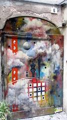 (M a r i S à) Tags: albenga italy door art doorway strange unusual
