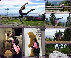 Fun day on Grouse Mt. with Agathe. (France-♥) Tags: agathe grousemountain dancer femme woman collage vancouver canada