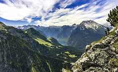 Berchtesgaden Alps (tomas.jezek) Tags: kehlstein bavaria germany berchtesgaden alps mountains lake landscape nature sky green forests rocks viewpoint blue scenery clouds deutschland vista