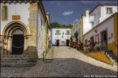 Portogallo # 23 (celestino2011) Tags: stradina obidos scale chiesa nuvole travel colori ombre