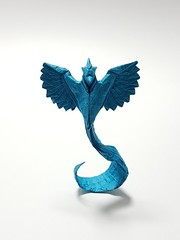 Articuno (Henry Phąm) (joeygami) Tags: legendarypokémon legendary craft art paper phoenix bird blue articuno pokémongo pokémon sculpture design origami