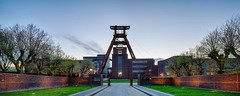 Zollverein, Shaft 12, at Blue Hour - Ruhr Area, Germany (dejott1708) Tags: landmark ruhr area ruhrgebiet zollverein shaft xii schacht panorama architecture bauhaus hdr