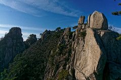 Thrilling rocky ridge and feather clouds in the blue sky. (Michael@0730) Tags: gyeonggido southkorea kor