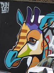 Graff in Dublin - Dan Leo (brigraff) Tags: streetart sprayart spray aerosol painting drawing animal girafe dublin ireland irlande danleo brigraff