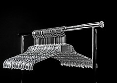 acryl hangers (christikren) Tags: flickrfriday acrylhangers hangers clothinghooks clotheshanger bw blackandwhite blackwhite christikren kleiderhaken ordnung reihenfolge acryl abitoforder