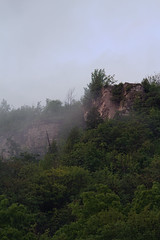 Dundas Peak (Umer Javed) Tags: landscape landscapes hfg cans2s canon canont3i dundas ontario canada hamilton escarpment niagara forest cliff rock mountain hill nature f11 sunset fog mist spencergorge conservation