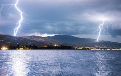 Double Strike in Aigio (free3yourmind) Tags: double strike aigio egio greece peloponnese storm clouds cloudy sea weather nature power electric charge