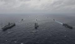 170717-N-JH929-821 (U.S. Pacific Fleet) Tags: ussnimitz cvn68 sailors aircraftcarrier usnavy deployment malabar bayofbengal