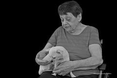 Marianne 1 (Menschenlandschaften) Tags: frau alt mensch hund schwarzweis portrait menschenlandschaften