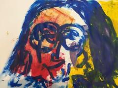 wohin wir uns wenden würden (raumoberbayern) Tags: acryl acrylic robbbilder sketchbook skizzenbuch portrait malerei painting