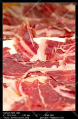Iberian pig's ham (__Viledevil__) Tags: iberian ham appetizer nutrition salty bacon meat food pig eat diet meal lunch snack sandwich dinner consume eating ingredient red pork