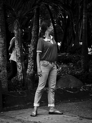 Park Worker (Beegee49) Tags: lady standing filipina silay city philippines