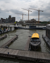 Rotterdam 22-07-2017-2 (Pure Natural Ingredients) Tags: rotterdam rotjeknor 010 architecture architectuur buildings gebouwen water watertaxi taxi cranes hijskraan boat boot ship dhc