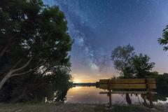 Au bord de l'étang (johnlaruelle) Tags: nightscape night sky ciel nuit voie lactée milkyway paysage stars etoiles nikon d750 1424
