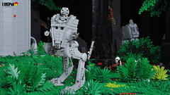 073 - Chickens' duty (dmaclego) Tags: lego star wars forest sanctuary moon endor project return jedi moc