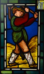Labours of the Months: August, Threshing (1863) (Simon_K) Tags: ely cambridgeshire cambs eastanglia cathedral window glass stained sgm nikon d5300