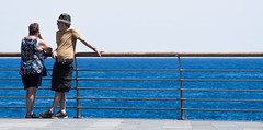 Puerto Del La Cruz, Tenerife, June 2017. (CWhatPhotos) Tags: blue water sky people couple coast fence puerto del la cruz tenerife going holiday holidays photographs photograph pics pictures pic picture image images foto fotos photography artistic that have which with contain olympus esystem four thirds digital camera lens 43 mft micro cwhatphotos