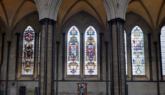 Salisbury Cathedral, side aisle windows