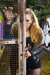 Samantha Ross-Russell (Waving lights in the dark) Tags: sheffield sheff sheffgraff abandoned urbex model beauty apocalypse photoshoot