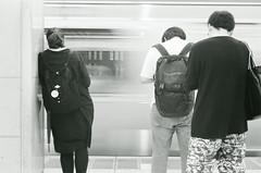 Shibuya Station (gshirt1222) Tags: leica leicacamera leicam6 m6 summicron summicron50mm summicron50 50mm film filmisnotdead ilford blackandwhite monochrome shibuya tokyo snapshot snap analog
