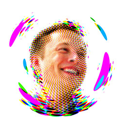 elon musk (dotz 3s) Tags: elon musk fan art mosaic white background colorful portret pictures digital dots tesla eco future