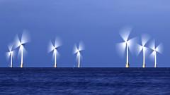 Trefoils (Joseph Pearson Images) Tags: windturbine blades longexposure sea sky seascape norfolk england renewableenergy motionblur