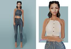 Rowne Kim Denim Crop for Luxe Box (Fashionboi Landar) Tags: luxe box rowne second life