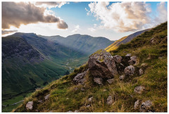 Sunrays across Mosedale (malcbawn) Tags: wasdale yewbarrow greatgable lakedistrict nationalpark mosedale scafell wasdalehead pillar clouds unesco lakes kirkfell outdoors mountains wastwater landscape lingmellfell malcbawnphotography