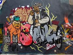 Shane (ODV) (juillet 2017) (Archi & Philou) Tags: shane odv fontaineauroi paris11 murpeint paintedwall graffiti chien dog couteau knife