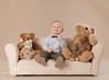 little sofa with teddy bears (Kimberly Kauffman) Tags: 1yearoldboy 12months february2017 tidbitcollection babyboy babyplan fullyretouchedchosenimages milestonesession studio suedegrayseamless toddlerboy