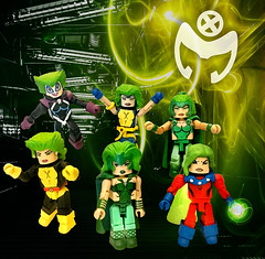 Polaris Minimate Collection (bravedesign) Tags: polaris lorna dane xmen xfactor factor x men magneto muir island malice inferno marvel comics superheroes super heroes minimates custom decal design uncanny 90s 80s age apocalypse aoa diamond select toys