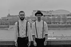 Lost Boys (BNNRMN) Tags: jamie wise and chris turley portrait peaky blinders black white shirts braces smoke london old fashion tattoos tatts hard city robbie bannerman bnnrmn robbiebannerman