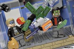 Raining Money (WattyBricks) Tags: lego marvel comics superheroes spiderman homecoming 76082 atm heist iron man hulk captain america avengers queens