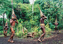 Tribesmen dancing in the jungle with helmet masks for a circumcision ceremony, Malampa Province, Malekula Island, Vanuatu (Eric Lafforgue) Tags: adultsonly celebration ceremony circumcision culture custom dance dancing ethnic feet forest grade ground groupofpeople helmetmask indigenous island jungle kastom makeup malakula malampaprovince malekula mask masks melanesia men nambas newhebrides nivanuatu oceania onlymen outdoors pacificocean pandanus pigtusk shirtless tourism tradition traditionalclothing traveldestination tribal tribe tribesmen vanuatu vegetation hassvanuatu058 malekulaisland