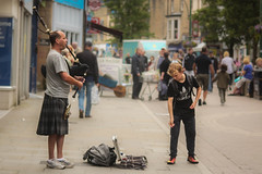 Lone Bagpipes (ledwar) Tags: bagpipes piper busker charity marketplace street buxton