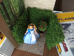 Behind the Scenes (Foxy Belle) Tags: alice wonderland disney doll playsclale 16 behind scenes how diy make plants shrub wall hedge