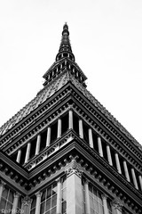Mole Antonelliana (Denkiwi) Tags: digital texture bw blackandwhite white art architecture light street urban city turin italy