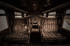 a place in the first class (Goddl) Tags: erste klasse first class zug train sessel armchair urbex nikon