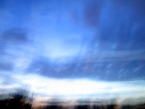 Azul pintado de azul